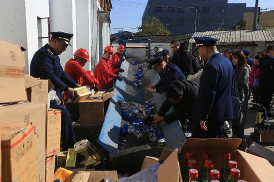 江苏省开展违法食品公开销毁活动 货值超过650万元