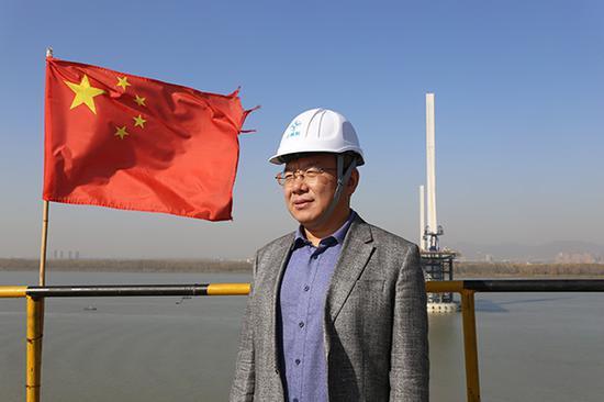 南京长江五桥总设计师崔冰 澎湃新闻记者 郑朝渊 图
