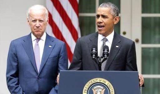 ↑奥巴马与拜登 图片来源:Nation Review