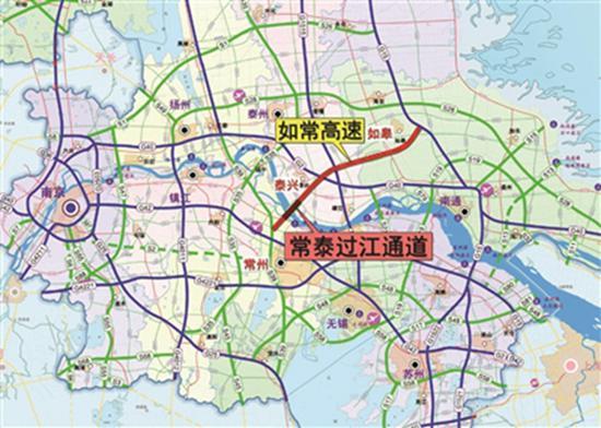常泰长江大桥在这里。