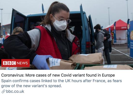 欧洲发现了更多感染变异新冠病毒的确诊病例。