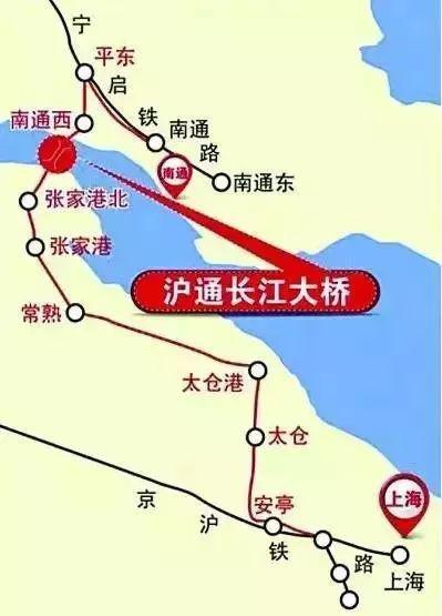 沪通铁路线路图