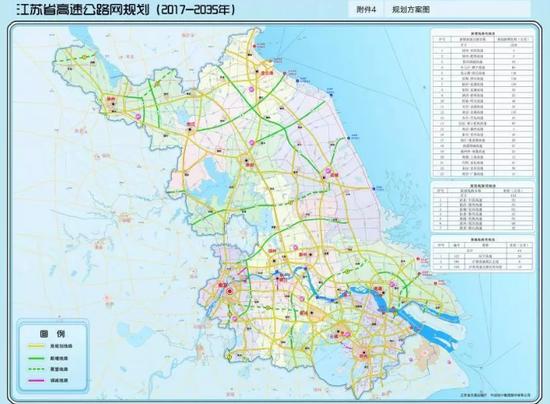 江苏省高速公路网规划(2017-2035年)