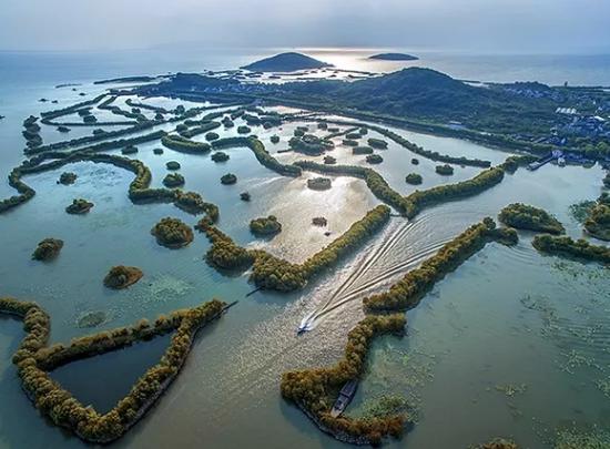 江苏苏州,太湖三山岛