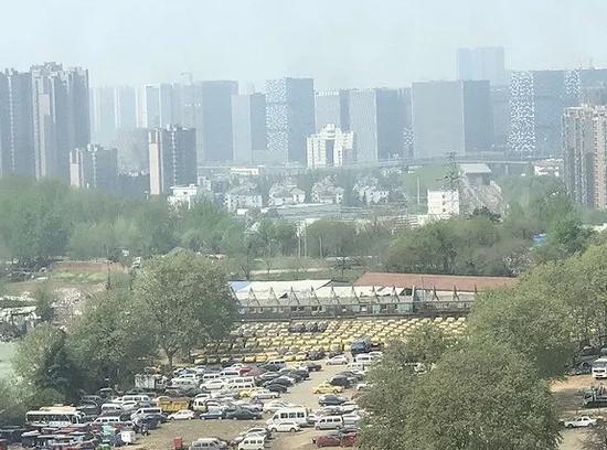 位于南京市安德门附近的一处停车场