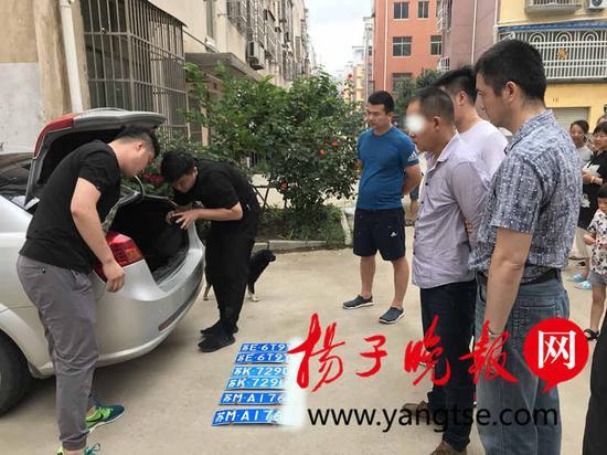 图为犯罪嫌疑人刘某及假号牌。戴婷 摄