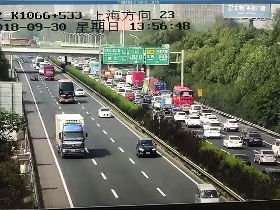G2京沪高速广靖锡澄段由南往北