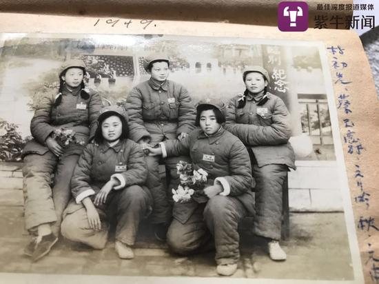 朱奶奶(右一)当年的照片