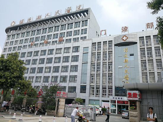 患者李萍受伤后曾入住怀远县人民医院。澎湃新闻记者 朱远祥 图