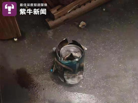 易拉罐爆炸现场