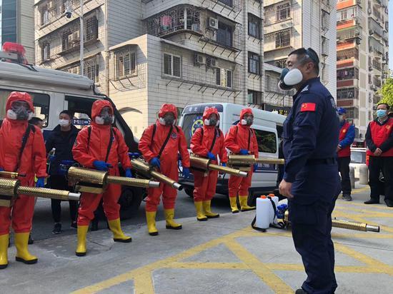 2020年2月,厦门曙光救援队在疫情期间开展守护家园专项行动。
