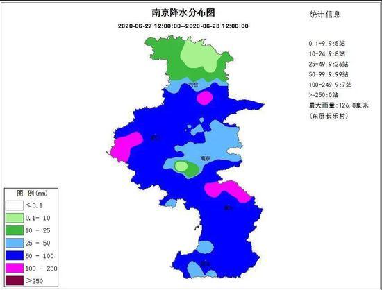 南京降水分布