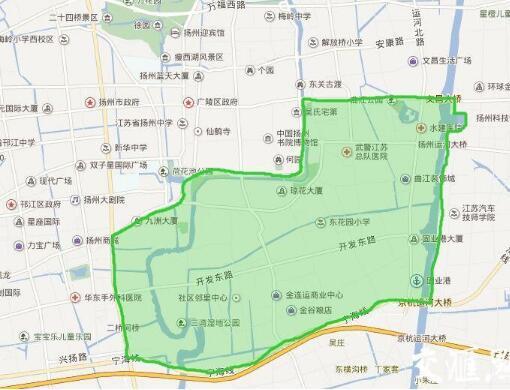 图:实施水环境修复的东南片区范围