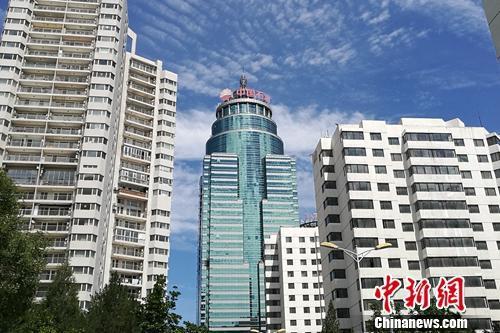 北京市亚运村北辰附近某小区楼外景。中新网程春雨 摄