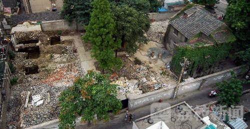 2008年,拆除中的张治中公馆