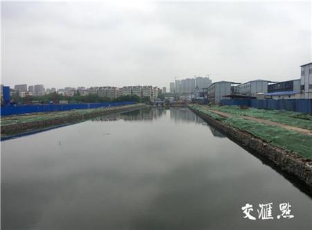 正在治理的建邺区胡家闸河河道。