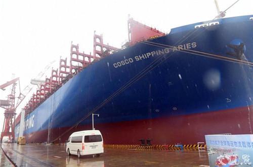 南通中远川崎船舶工程有限公司。交汇点记者朱江摄