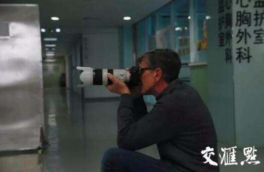 克里斯·马吉在南京鼓楼医院内拍摄