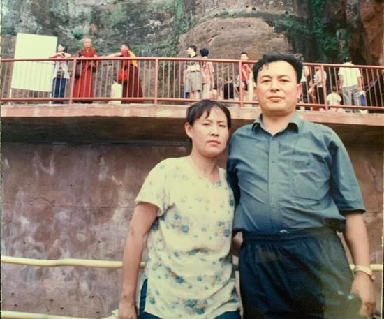 田志娟和丈夫的合影