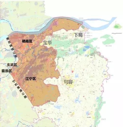 紫东地区规划图。南京市规划和自然资源局