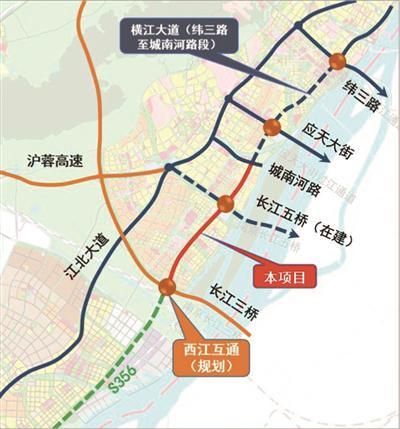 南京江北新区又一轴线工程来了!串起4条过江通道
