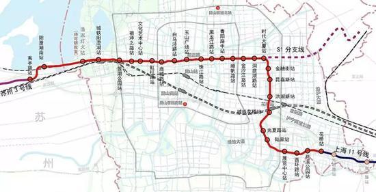 S1线设计速度目标值为100km/h,采用B型车6辆编组,全线设一段一场。