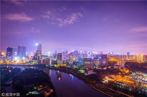 俯瞰成都。图自视觉中国