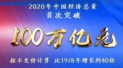 2020中国GDP首超100万亿元