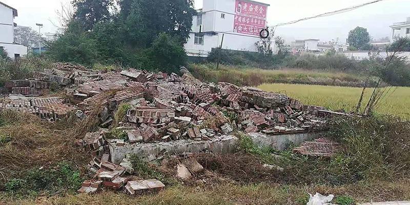被拆除的违章建筑。 受访者 供图