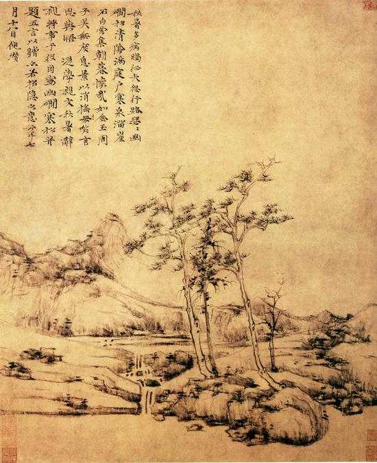 倪云林画作