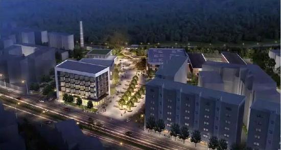 ▲白马竹海游览区:电影机械厂改造