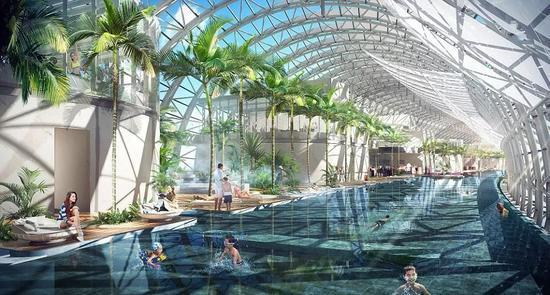 """▲效果图,""""横向摩天大楼""""里会建游泳池和餐厅等。(英国《每日邮报》)"""