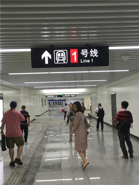 试乘起点——茶山站入口大厅