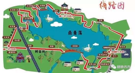 环南青荡徒步线路图