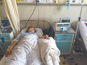 邢女士在省医院接受救治。家属供片