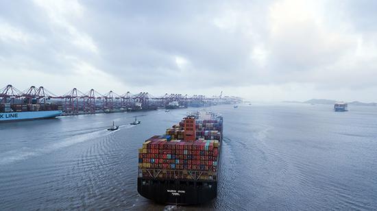 洋山深水港。视觉中国 资料