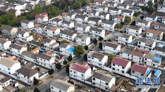 这是4月3日拍摄的徐州市贾汪区马庄村村貌(无人机拍摄)。 新华社记者李响摄