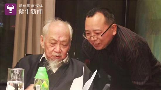 文怀沙与弟子吴广合影 吴广提供