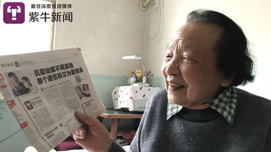 朱奶奶说因为紫牛新闻的报道她决定捐款帮助曾佩