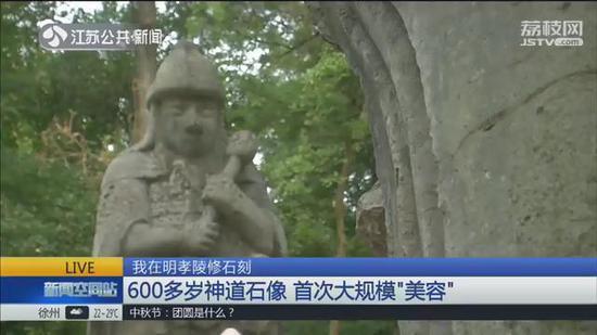 """我在明孝陵修石刻:600多岁神道石像首次大规模""""美容"""""""