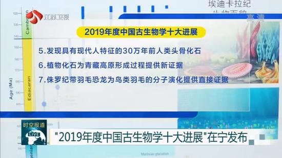 2019中国古生物学十大进展发布 南京主持参与5项研究