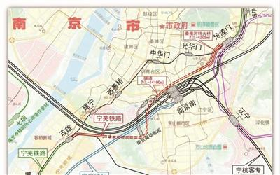 宁芜铁路项目外绕示意图