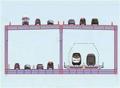 """上层桥面布置双向6车道高速公路,下层桥面""""平行""""布置了铁路和公路:两线城际铁路、4车道一级公路"""