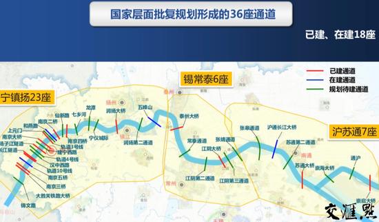 近三年内新建9座过江通道