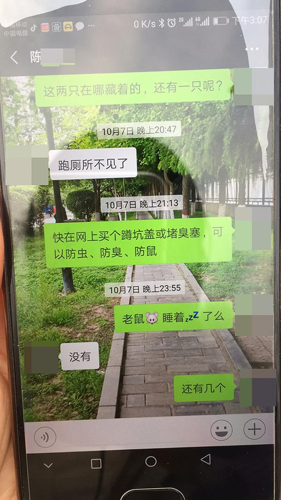 陈某楠与父亲的聊天记录 家属供图