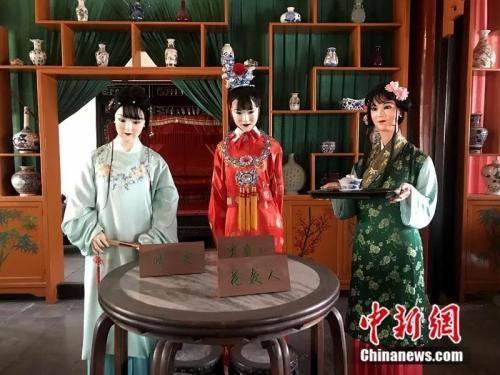 资料图:北京大观园怡红院中原本的陈设。中新网记者 王珊珊 摄