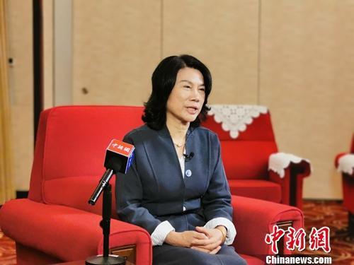 格力电器董事长董明珠接受中新网记者专访。中新网记者 李金磊 摄