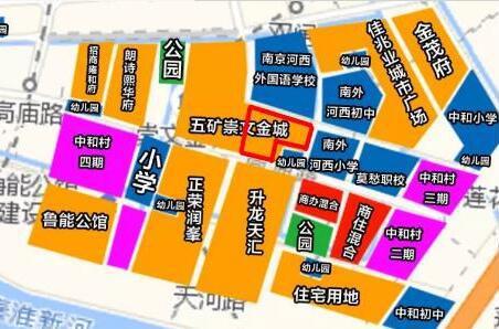 南京河西南聚集了众多住宅小区。