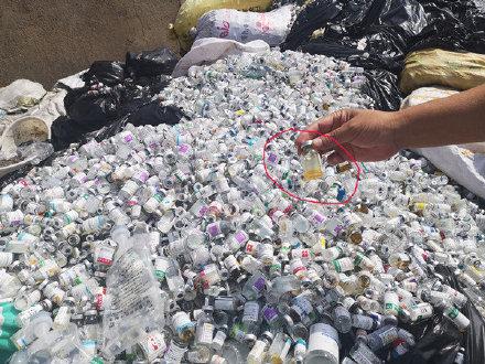 淮安国道边现数吨医疗废弃物 市卫健委:调查到底