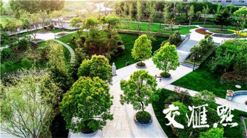 """南京西善桥在老旧小区间""""见缝插绿""""修建绿地游园。"""